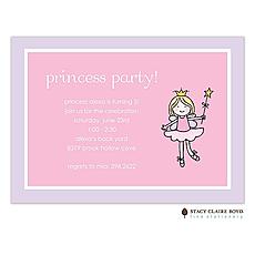 : Ballerina Fairy Party Invitation