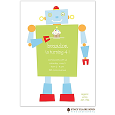 : Happy Robot Party Invitation