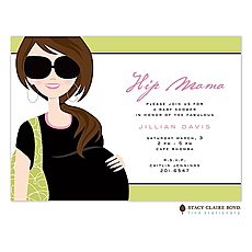 : Hip Mama Brunette Invitation