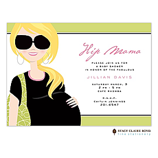 : Hip Mama Blonde Invitation