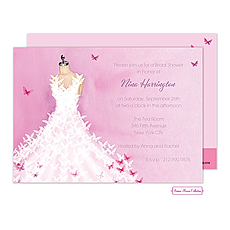 : Butterfly Dress Invitation