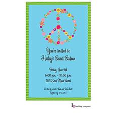 : Flower Peace Invitation