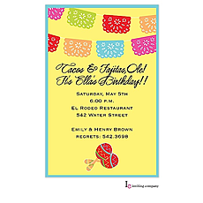 : Mexican Banner Invitation