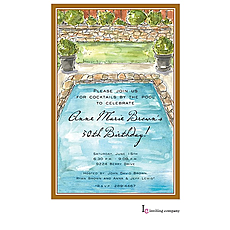 : Backyard Pool Invitation