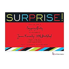 : Surprise Stripe Invitation