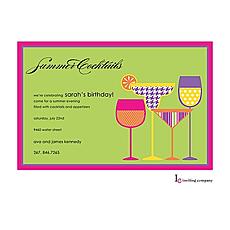 : Modern Drinks Invitation
