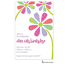 : Patterned Petals Invitation