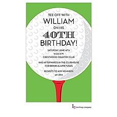 : Golf Ball Invitation