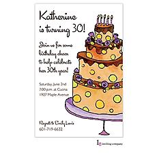 : Cocoa Cake Invitation