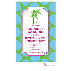 : Preppy Palms Invitation