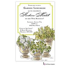 : Potted Plants Invitation