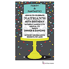 : Confetti Cake Invitation