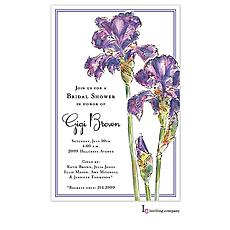 : Elegant Iris Invitation