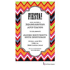 : Fiesta Chevron Invitation