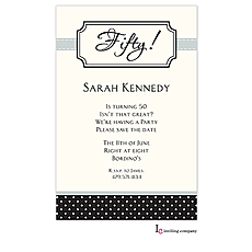Bookplate Black Invitation -