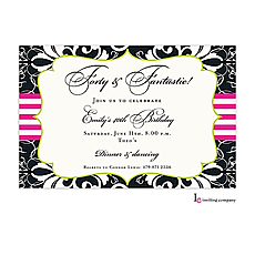 Brocade Black Invitation -