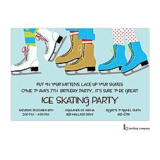 : Ice Skating Party Invitation