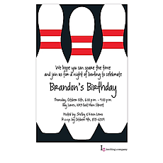 : Bowling Pins Invitation