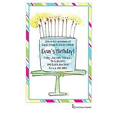 : Cake Flames Invitation