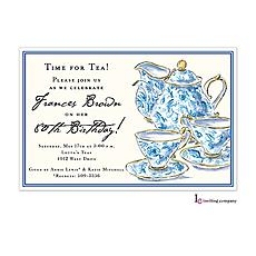Chintz Tea Invitation -