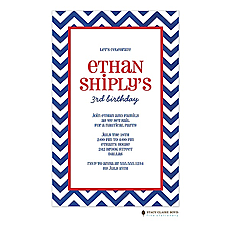 Chevron - Blue Invitation -