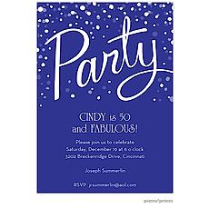 : Party Purple Invitation