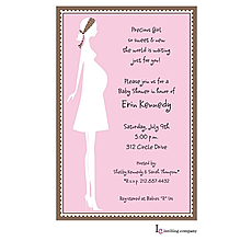 Mom Girl Invitation -