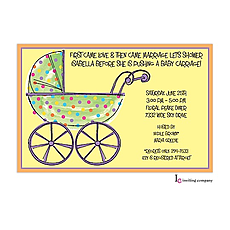 : Speckled Stroller Invitation