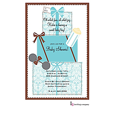 : Gifts Blue Invitation