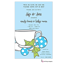 : Boy Tea Invitation
