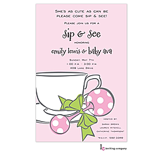 : Girl Tea Invitation