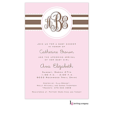 : Blush Ribbon Invitation