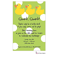 : Ducky Dots Invitation