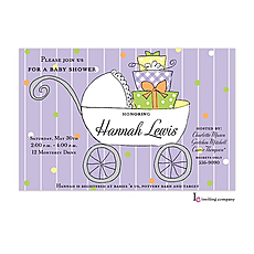 : Gift Buggy Invitation
