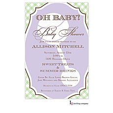 : Framed Rattle Invitation