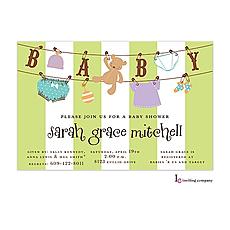 : Baby Line Invitation