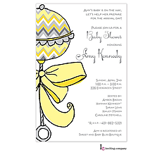 : Chevron Rattle Invitation