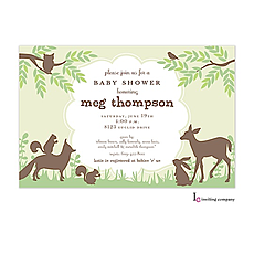 : Woodland Friends Invitation