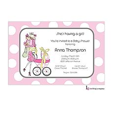 : Bearing Gifts Girl Invitation