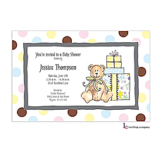 Baby Shower Bear Invitation -