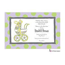 : Baby Buggy Invitation