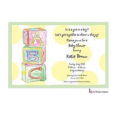 : Baby Blocks Invitation