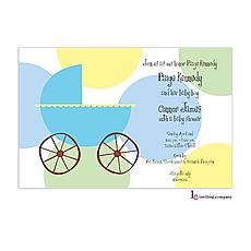 : Carriage Boy Invitation