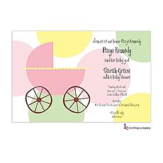 : Carriage Girl Invitation