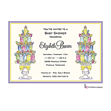 : Baby Topiaries Invitation