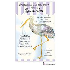 Stork Invitation -