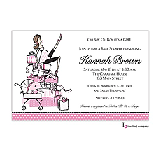 : Mommy Pink Invitation