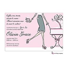 : Tea Mom Pink Invitation