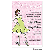 Mama Girl Invitation -