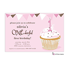 : One-derful Girl Invitation